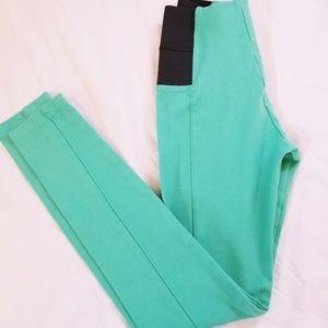 Pants - Mint green stretch pants